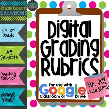 Digital Grading Rubrics for All Occasions (GOOGLE Forms)