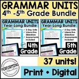 Digital Grammar Activities | Year-Long Grammar | 4th-5th G