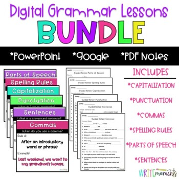 Digital Grammar Lessons BUNDLE- Distance Learning