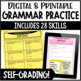 Digital Grammar Practice - 5th Grade Grammar Google Forms for Distance Learning