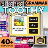 Digital Grammar Toothy ® Task Cards Bundle | Grammar Practice and Review