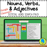 Digital Grammar Word Search Pack: Nouns, Verbs, and Adjectives