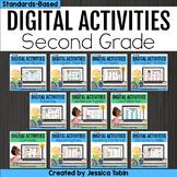 Digital Grammar and Language Activities- 2nd Grade Bundle Google Slides