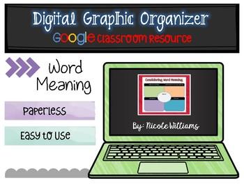 Digital Graphic Organizer for Google Drive