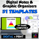 Digital Graphic Organizer Templates