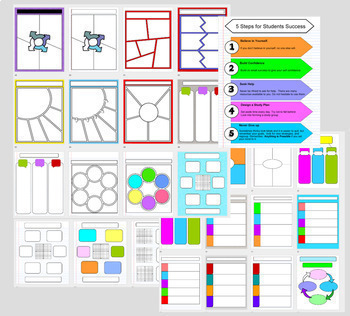Digital Interactive Notebook Templates for Graphic Organizers
