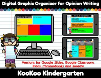 Digital Graphic Organizer for Opinion Writing (Distance Learning)