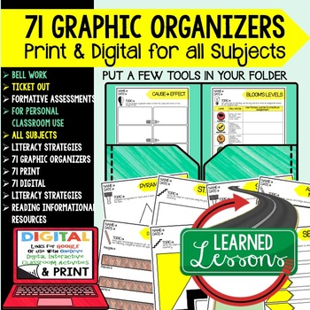 Digital Graphic Organizers Bell Work Ticket Out Formative