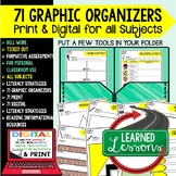 Digital Graphic Organizers, Bell Work, Ticket Out, Formati