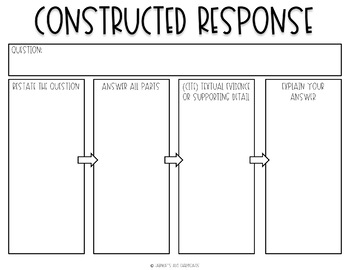 Digital Graphic Organizers: Constructed Response