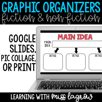 Digital Graphic Organizers - Fiction & Non-Fiction