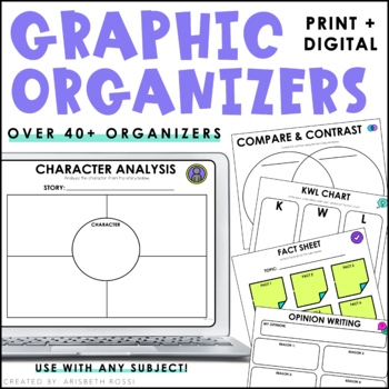 Digital Graphic Organizers (Google Slides™)