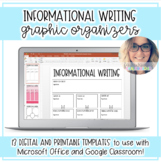 Digital Graphic Organizers: Informational Writing