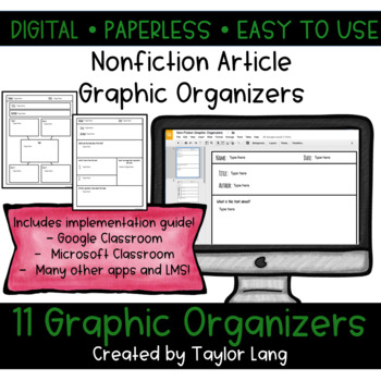 Digital Graphic Organizers - Use with any Nonfiction Article!