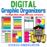 Digital Graphic Organizers for Google Slides, Google Classroom, and Seesaw