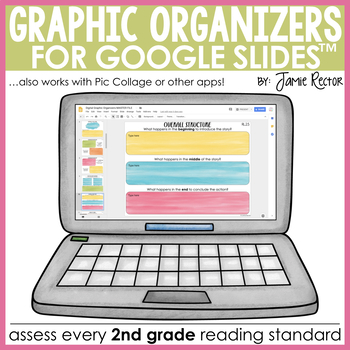 Digital Graphic Organizers for Reading [2nd Grade]