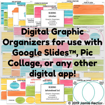 Digital Graphic Organizers for Reading   2nd Grade