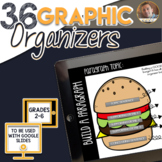 GOOGLE Drive Graphic Organizers for Reading, Writing, and SS: 36 Organizers
