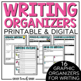 Digital Writing Graphic Organizers to use Google Slides | Distance Learning