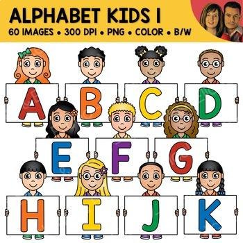 Literacy Clipart - Alphabet Kids 1