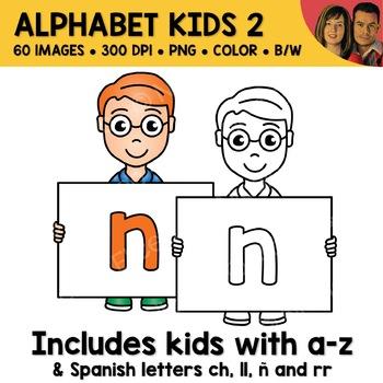Literacy Clipart - Alphabet Kids 2