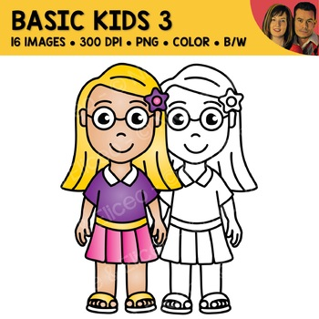 School Clipart - Basic Kids 3