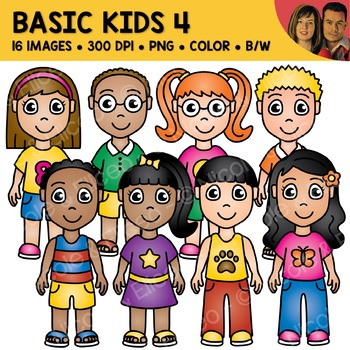 School Clipart - Basic Kids 4