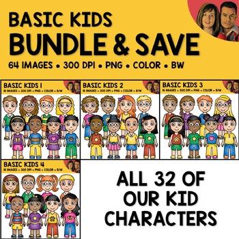 School Clipart - Basic Kids Bundle