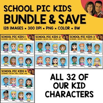 School Clipart - Kid Photo Bundle