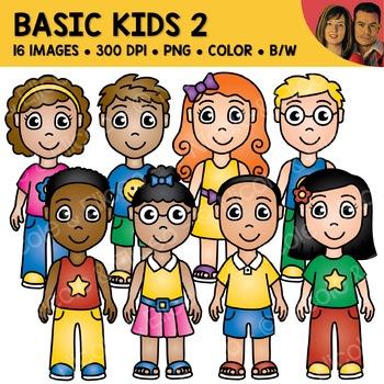School Clipart - Basic Kids 2