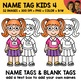 School Clipart - Name Tag Kids 4