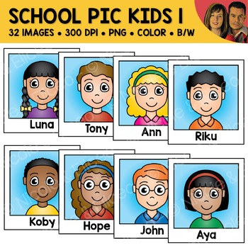 School Clipart - Kid Photos 1