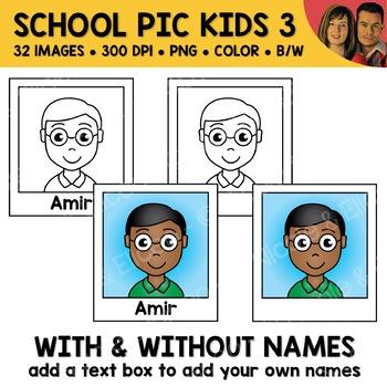 School Clipart - Kid Photos 3