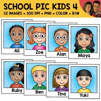 School Clipart - Kid Photos 4