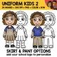 School Clipart - Uniform Kids 2