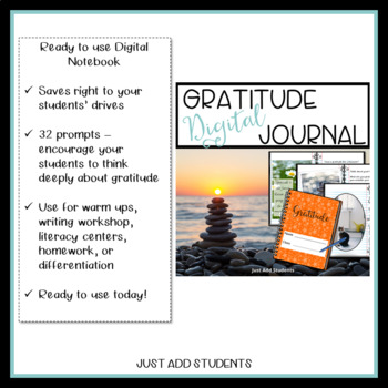 Digital Gratitude Journal 32 Days of Thanksgiving
