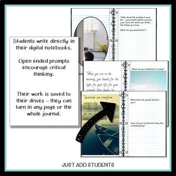 Digital Gratitude Journal 32 Days of Thanksgiving