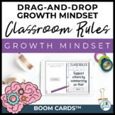 Digital Growth Mindset: Classroom Rules on BOOM CARDS