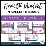 Digital Growth Mindset in Speech - Boom Card Bundle