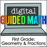 Digital Guided Math for Distance Learning First Grade Geom