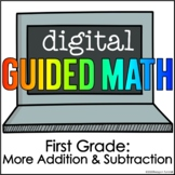 Digital Guided Math for Distance Learning First Grade More