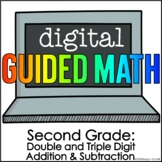 Digital Guided Math for Distance Learning Second Grade 2 D