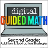 Digital Guided Math for Distance Learning Second Grade Add