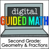 Digital Guided Math for Distance Learning Second Grade Geo