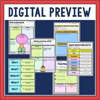 Digital Guided Reading Binder for Google Slides TM