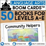 Digital Guided Reading Books with Audio Boom Cards Bundle
