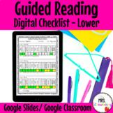 Digital Guided Reading Checklist Lower Elementary For Goog