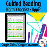 Digital Guided Reading Checklist Upper Elementary For Goog