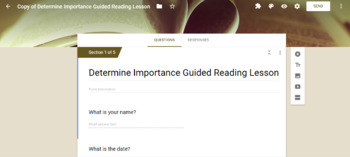 Digital Guided Reading Lessons for Student Use in Google Classroom