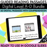 Digital Guided Reading Passages Bundle: Level A-D Distance